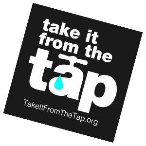 take it from the tap sticker